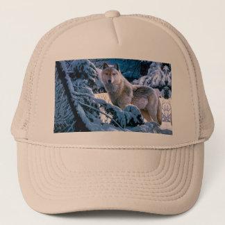 Gorra De Camionero Lobo ártico - lobo blanco - arte del lobo