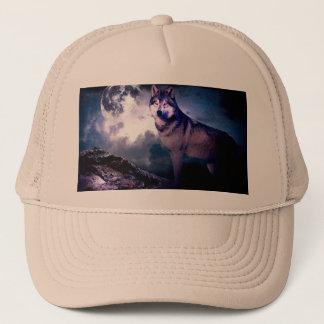 Gorra De Camionero Lobo de la luna - lobo gris - lobo salvaje - lobo
