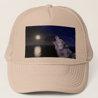 Gorra De Camionero Lobo de mar - lobo de la luna - Luna Llena - lobo