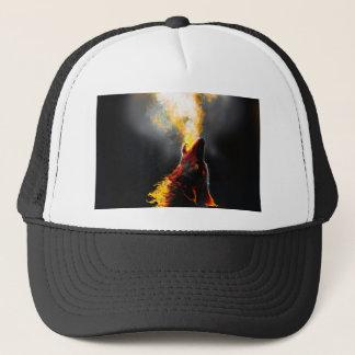 Gorra De Camionero Lobo del fuego