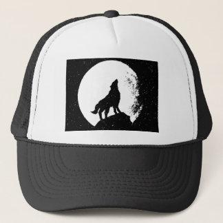 Gorra De Camionero Lobo y luna Silhoutte