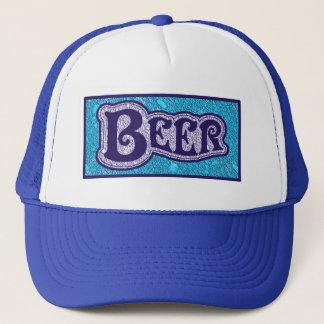 Gorra De Camionero Logotipo de la cerveza - mirada azul de la textura