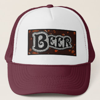 Gorra De Camionero Logotipo de la cerveza - rojo/mirada de
