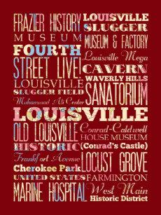 Gorra De Camionero Lugares famosos de Louisville 241d4ef2d90