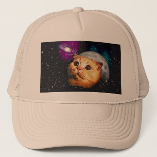 Gorra De Camionero luna del gato, gato y luna, catmoon, gato de la