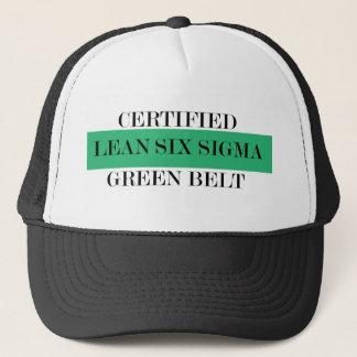 Gorra De Camionero Magro seis cinturones verdes certificados sigma