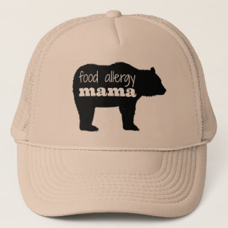 Gorra De Camionero Mamá Bear Trucker Hat de la alergia alimentaria