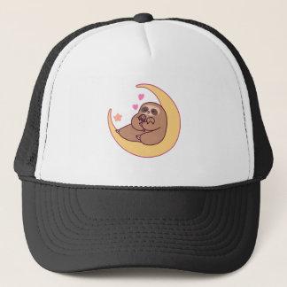 Gorra De Camionero Mamá Sloth y bebés de la luna