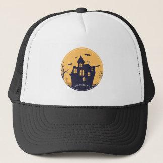 Gorra De Camionero Mansión y palos fantasmagóricos de Halloween