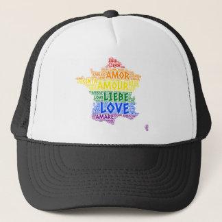 Gorra De Camionero Mapa de Francia del arco iris de LGBT ilustrado