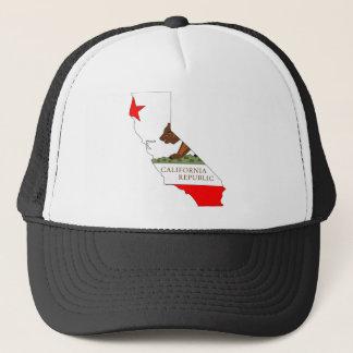 Gorra De Camionero Mapa de la bandera de California