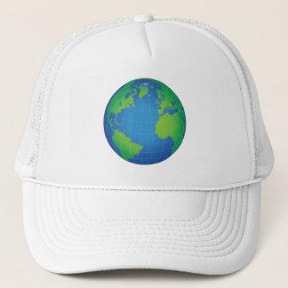 Gorra De Camionero Mapa del globo del mundo