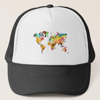 Gorra De Camionero mapa del mundo