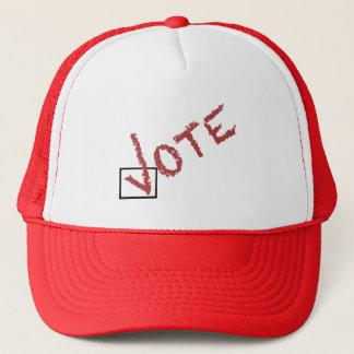 Gorra De Camionero marca de verificación del voto