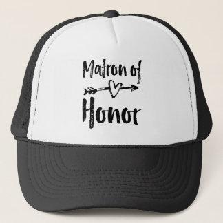 Gorra De Camionero Matrona de la camiseta del honor