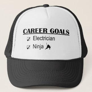 Gorra De Camionero Metas de la carrera de Ninja - electricista