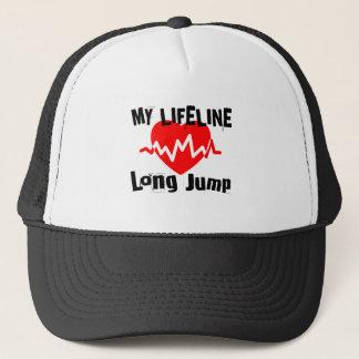 Gorra De Camionero Mi línea de vida salto de longitud se divierte