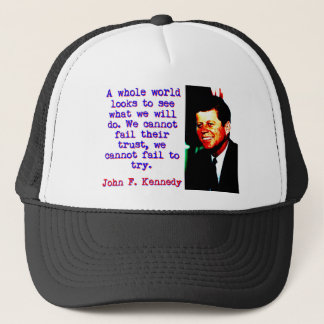 Gorra De Camionero Miradas enteras de un mundo - John Kennedy