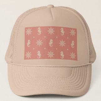 Gorra De Camionero Modelo coralino rosado náutico