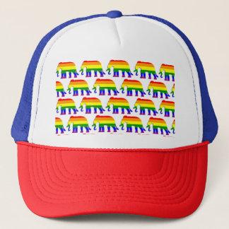 Gorra De Camionero Modelo del elefante del arco iris