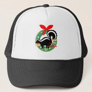 Gorra De Camionero mofeta de las Felices Navidad