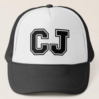 """Gorra De Camionero Monograma de """"CJ"""""""