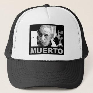 Gorra De Camionero Muerto de Castro (blanco al negro de y)