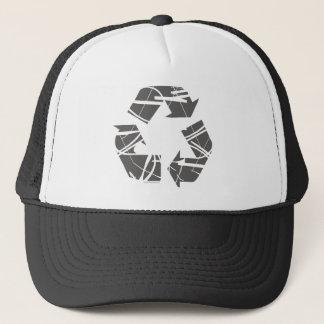 Gorra De Camionero Muestra de reciclaje gris