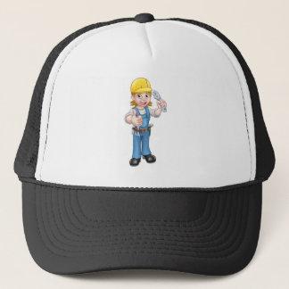 Gorra De Camionero Mujer del mecánico o del fontanero que detiene a