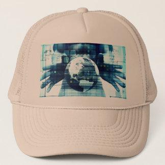 Gorra De Camionero Mundo de Digitaces e industria de la forma de vida