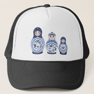 Gorra De Camionero Muñecas azules de Matryoshka