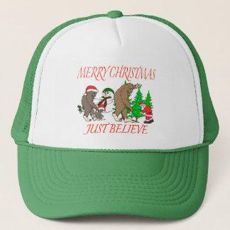 Gorra De Camionero Navidad 2 de la familia de Bigfoot