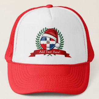 Gorra De Camionero Navidad alegre de la bandera de la República
