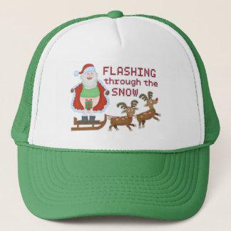 Gorra De Camionero Navidad divertido Papá Noel que destella a través