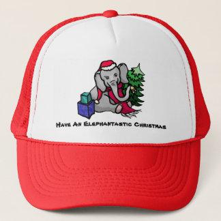 Gorra De Camionero Navidad lindo del elefante del lema de
