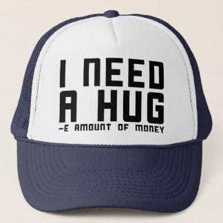 Gorra De Camionero Necesito un abrazo - cantidad de e del dinero