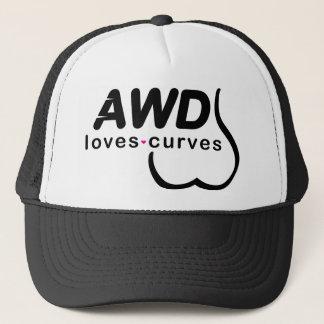 Gorra De Camionero Negro AWD de las curvas de los amores