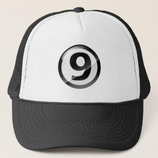 Gorra De Camionero Negro del número 9