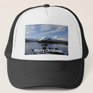 Gorra De Camionero Nieve del navidad en el soporte negro, Escocia