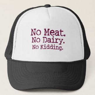 Gorra De Camionero Ningún mensaje del vegano de la carne