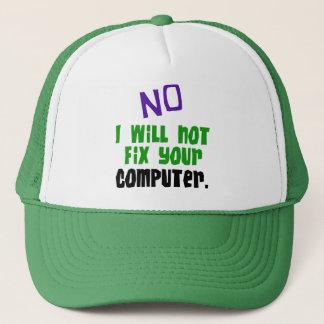 Gorra De Camionero Ningún no fijaré su ordenador