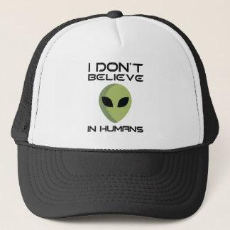 Gorra De Camionero No creo en seres humanos