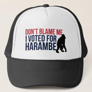 Gorra De Camionero No me culpe. Voté por Harambe