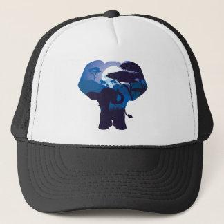Gorra De Camionero Noche africana con el elefante 4