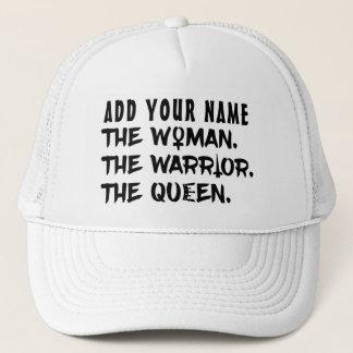 Gorra De Camionero Nombre de encargo divertido la mujer el guerrero