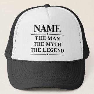 Gorra De Camionero Nombre personalizado el hombre el mito la leyenda