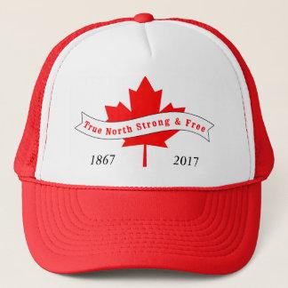 Gorra De Camionero Norte verdadero de Canadá fuerte y libre