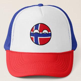 Gorra De Camionero Noruega Geeky que tiende divertida Countryball
