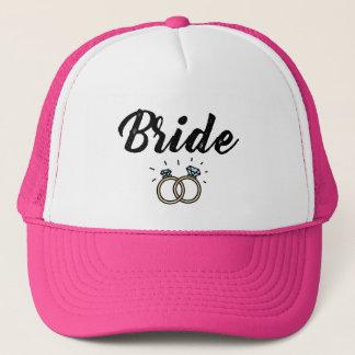 Gorra De Camionero Novia con el regalo de boda del anillo de diamante