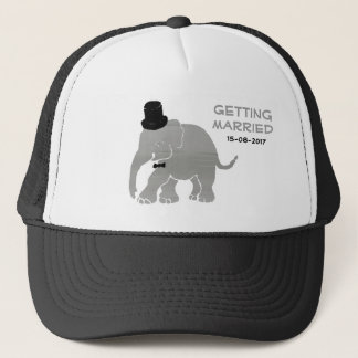 Gorra De Camionero Novio hermoso del elefante del vintage con el